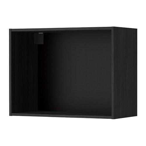 Metod structure l ment mural effet bois noir 80x37x60 cm ikea - Cuisines equipees ikea ...