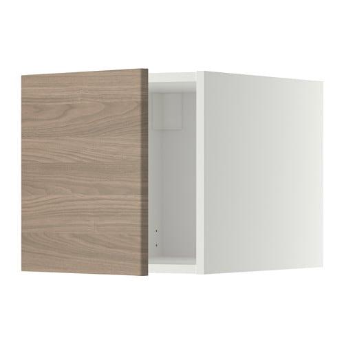 Metod surmeuble blanc brokhult motif noyer gris clair - Ikea bagno pensili ...