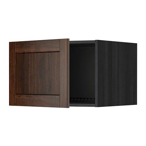 Metod surmeuble r frig rateur cong lateur effet bois noir edserum effet bois brun 60x40 cm for Meuble 60x40