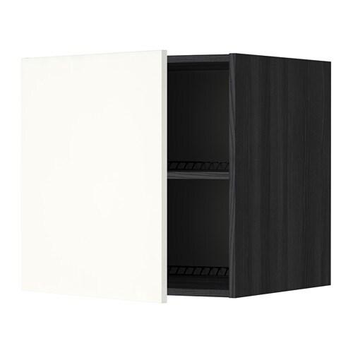 metod surmeuble r frig rateur cong lateur effet bois noir h ggeby blanc 60x60 cm ikea. Black Bedroom Furniture Sets. Home Design Ideas