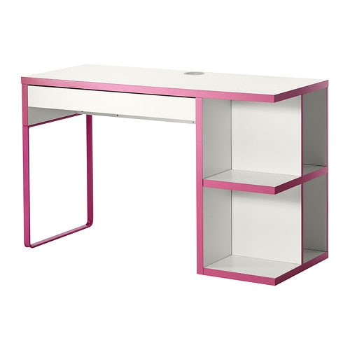 micke bureau avec rangement int gr blanc rose ikea. Black Bedroom Furniture Sets. Home Design Ideas