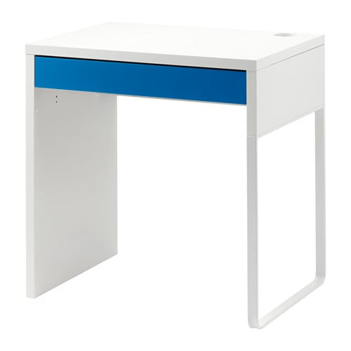 micke bureau blanc bleu ikea. Black Bedroom Furniture Sets. Home Design Ideas