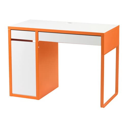 micke bureau blanc orange ikea. Black Bedroom Furniture Sets. Home Design Ideas