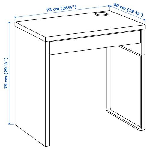 MICKE Bureau, blanc, 73x50 cm IKEA