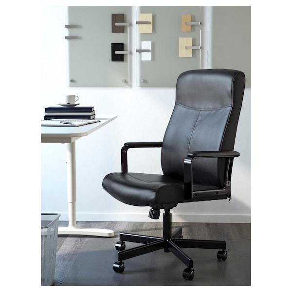 MILLBERGET Chaise pivotante, Bomstad noir