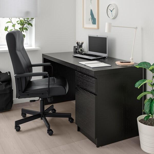 Audacieuse MILLBERGET Chaise pivotante, Bomstad noir - IKEA EK-37