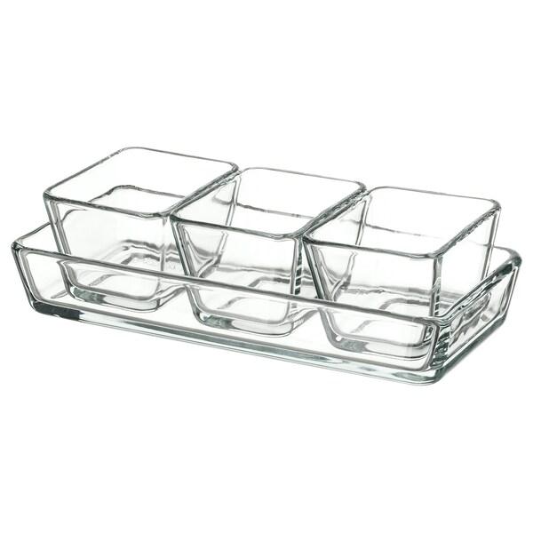 MIXTUR ramequin/plat à four lot de 4 verre transparent