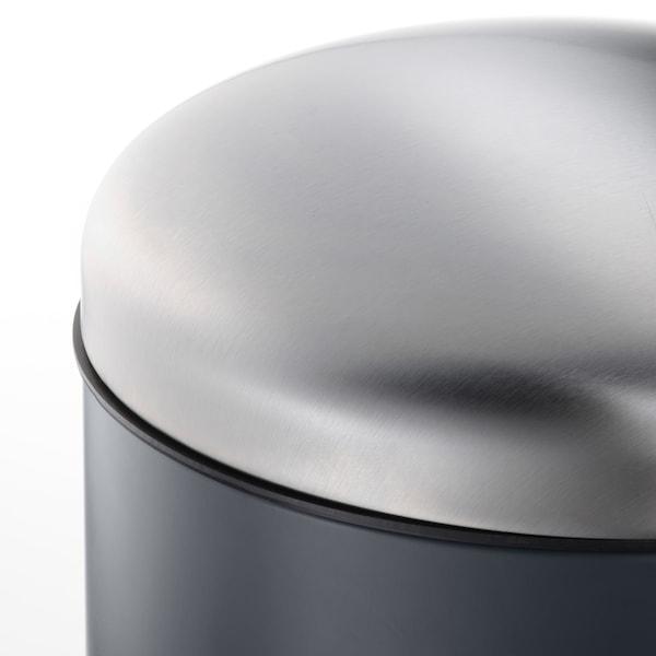 MJÖSA Poubelle à pédale, gris foncé, 30 l