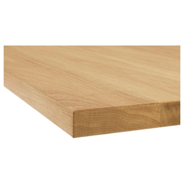 MÖLLEKULLA Plan de travail, chêne/plaqué, 246x3.8 cm