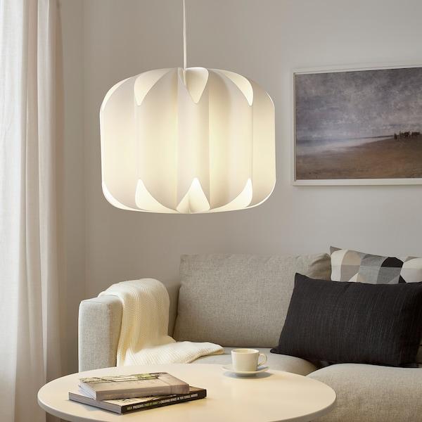 MOJNA Abat-jour suspension, textile/blanc, 47 cm