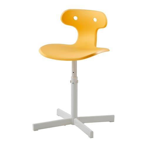 molte chaise de bureau - jaune - ikea - Ikea Chaises De Bureau