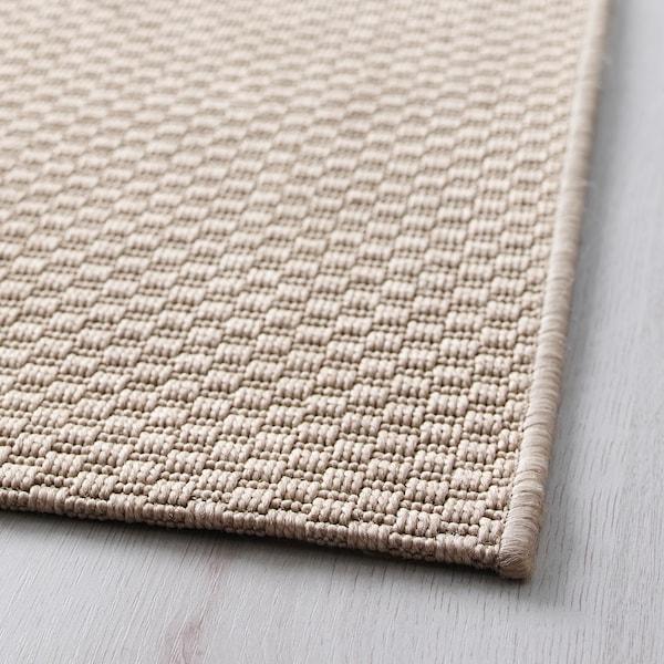 MORUM Tapis tissé à plat, int/extérieur, beige, 160x230 cm