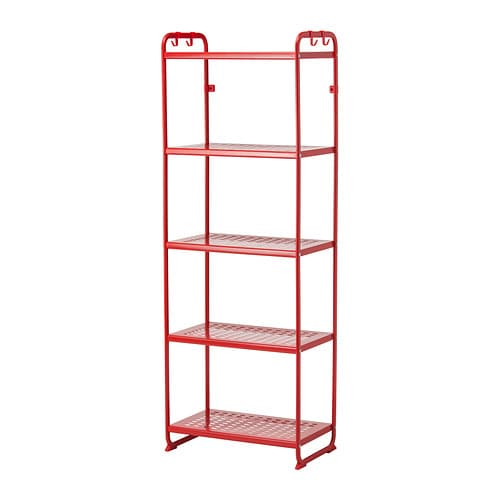 Mulig tag re rouge 58x34x162 cm ikea for Etagere metallique ikea le havre
