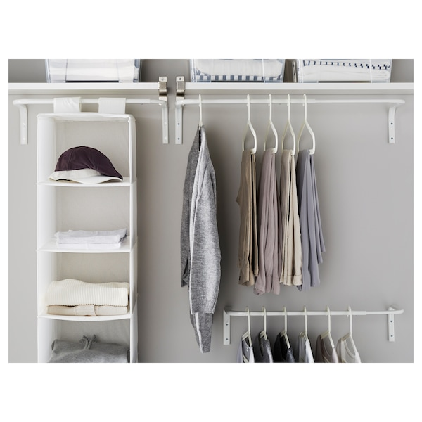 MULIG Tringle à vêtements, blanc, 60-90 cm