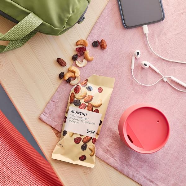 MUNSBIT Mélange de noix grillées, airelles et raisins secs non salé, 60 g