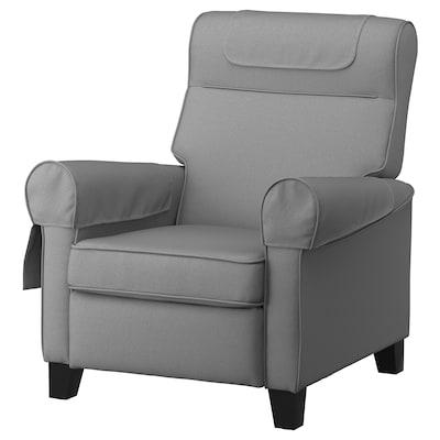 MUREN Fauteuil confort, Remmarn gris clair