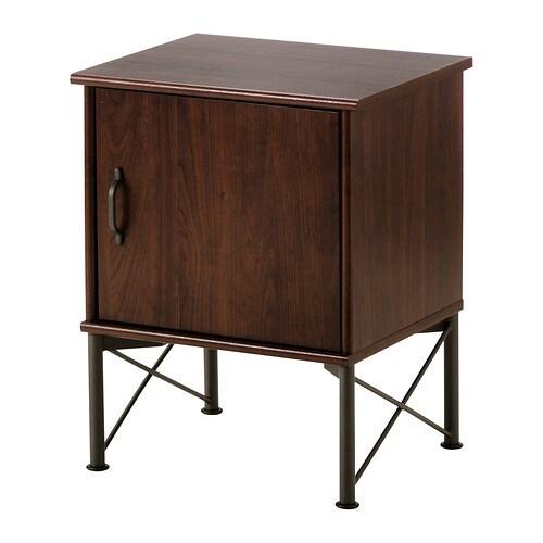 MUSKEN Table chevet , brun Largeur: 45 cm Profondeur: 38 cm Hauteur espace sous meuble: 20 cm / 20 cm Charge max./tablette: 15 kg