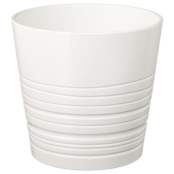 MUSKOT cache-pot blanc 22 cm 23 cm 19 cm 22 cm