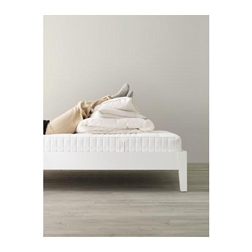 Myrbacka Matelas Latex 140x200 Cm Mi Ferme Blanc Ikea