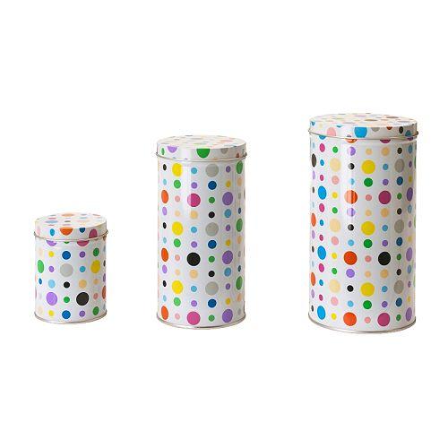 NIDELVA Boîte avec couvercle, lot de 3, multicolore
