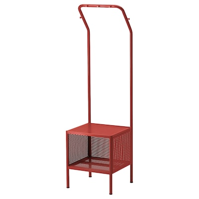 NIKKEBY Portant, rouge, 40x142 cm