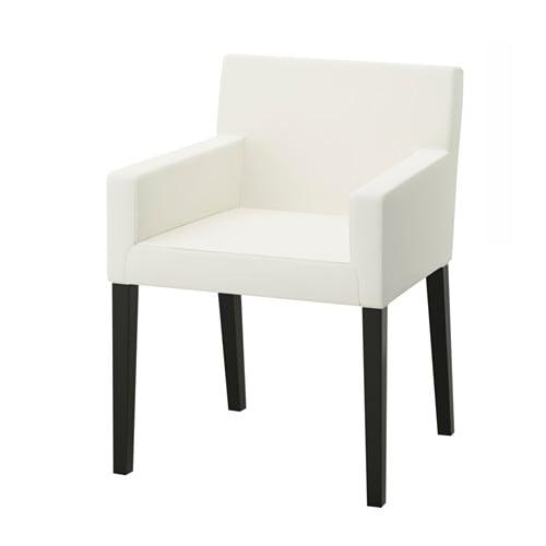 Nils chaise accoudoirs ikea for Ikea blanc chaises pliantes