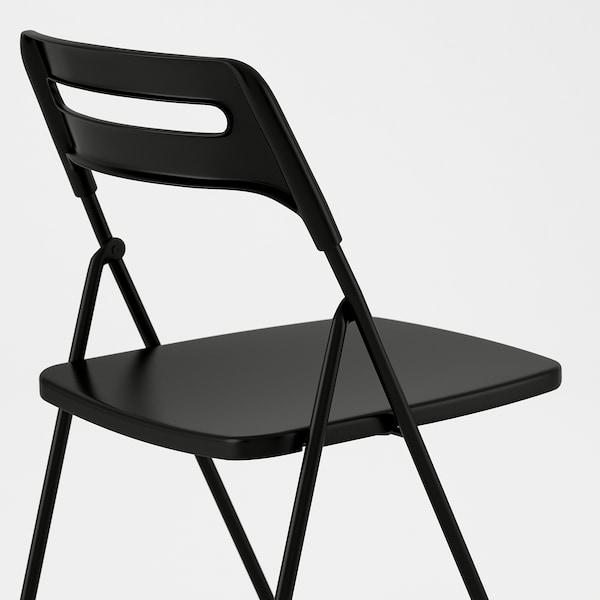 NISSE Chaise pliante, noir