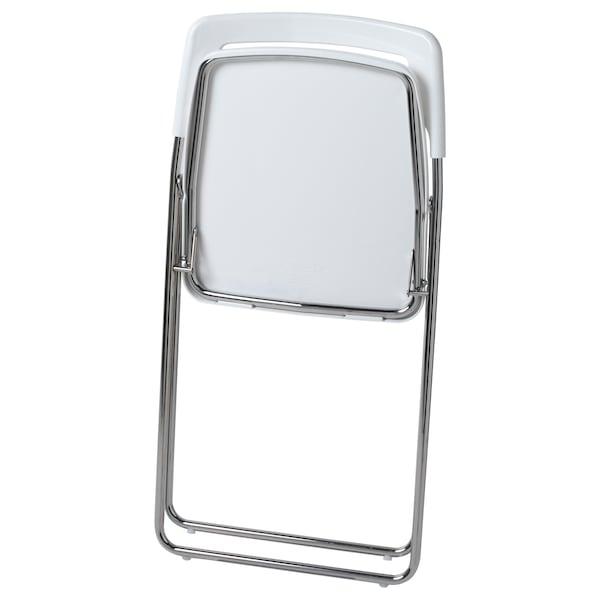 NISSE Chaise pliante, brillant blanc, chromé IKEA
