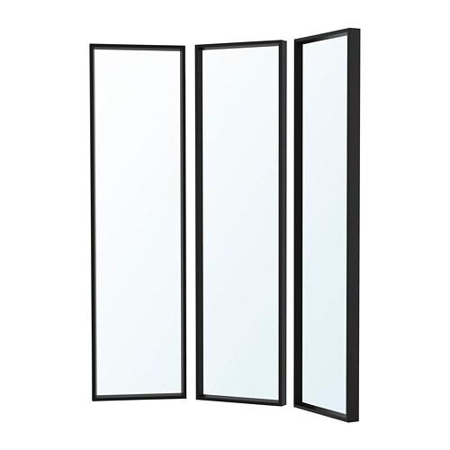 Nissedal combinaison de miroirs noir ikea - Ikea miroir chambre ...