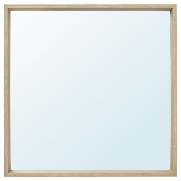 NISSEDAL Miroir, effet chêne blanchi, 65x65 cm