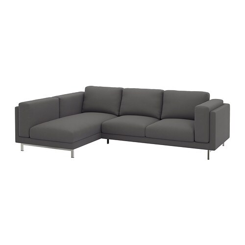 Nockeby canap 2 places m ridienne gauche gauche risane gris chrom ikea - Canape meridienne 2 places ...
