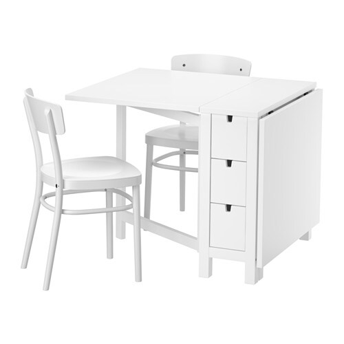Norden idolf table et 2 chaises ikea - Table de cuisine ikea ...