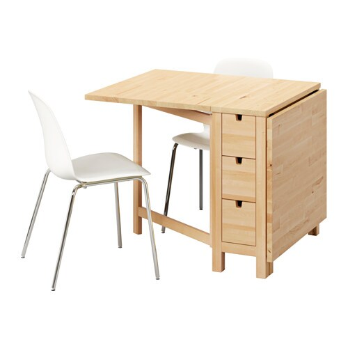norden leifarne table et 2 chaises ikea. Black Bedroom Furniture Sets. Home Design Ideas