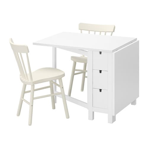 Norden norraryd table et 2 chaises ikea for Table a rabat cuisine