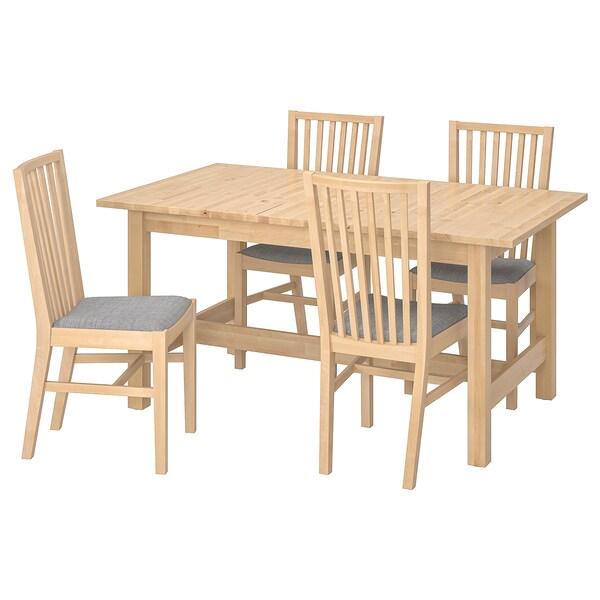 INGATORP INGATORP Table et 4 chaises noir 100155 cm