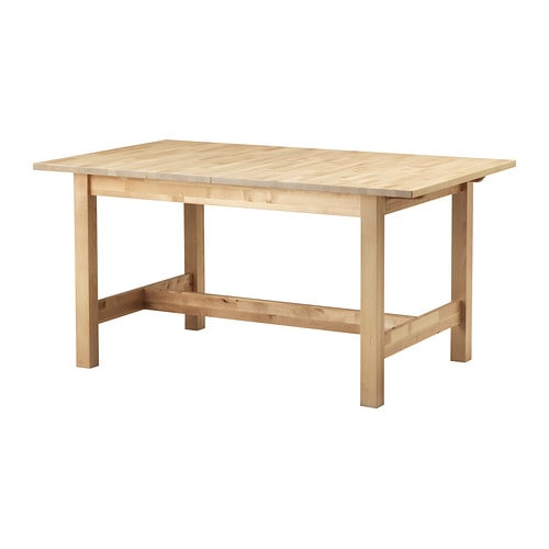 Norden table extensible ikea for Table en bois extensible