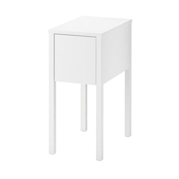 NORDLI table de chevet blanc 30 cm 50 cm 67 cm 23 cm 40 cm 40 cm 9.6 cm