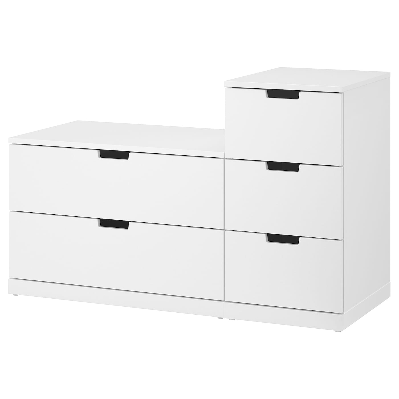nordli commode 5 tiroirs blanc 120x76 cm
