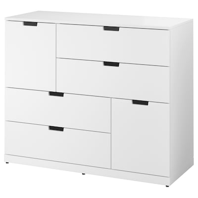 NORDLI Commode 6 tiroirs, blanc, 120x99 cm