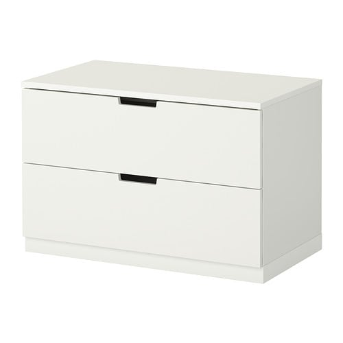 Nordli commode 2 tiroirs ikea for Meuble 3 tiroirs ikea
