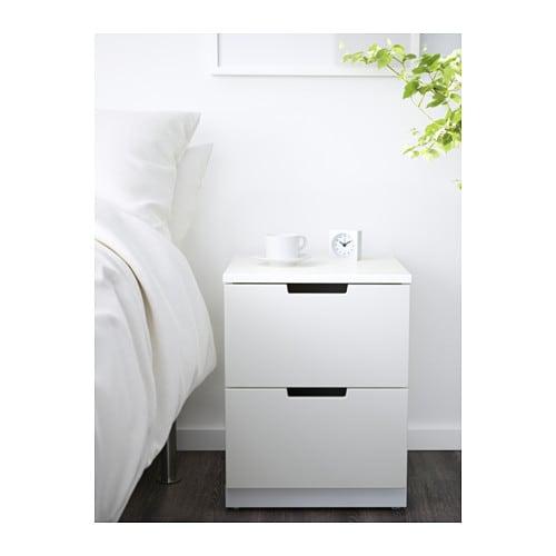 nordli commode 2 tiroirs ikea. Black Bedroom Furniture Sets. Home Design Ideas