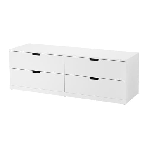 nordli commode 4 tiroirs blanc ikea. Black Bedroom Furniture Sets. Home Design Ideas
