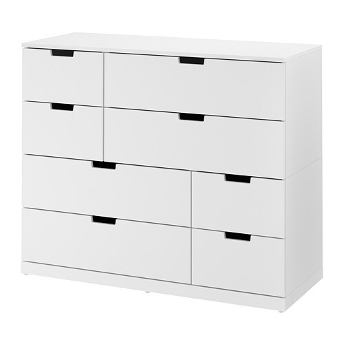 nordli commode 8 tiroirs blanc ikea. Black Bedroom Furniture Sets. Home Design Ideas