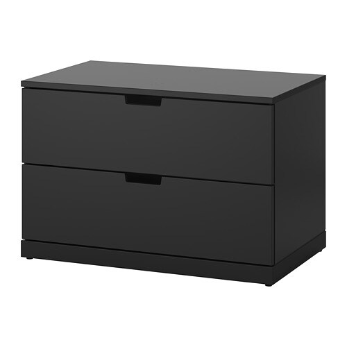 nordli commode 2 tiroirs anthracite ikea. Black Bedroom Furniture Sets. Home Design Ideas