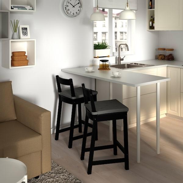 NORDVIKEN Chaise de bar, noir, 62 cm