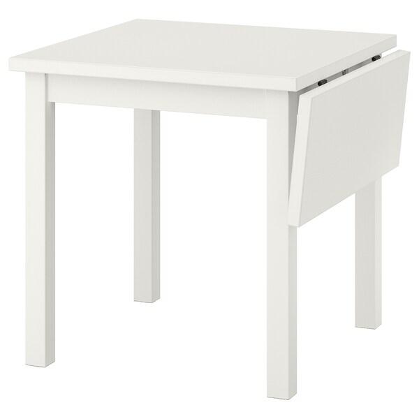 NORDVIKEN table à rabat blanc 74 cm 104 cm 74 cm 75 cm