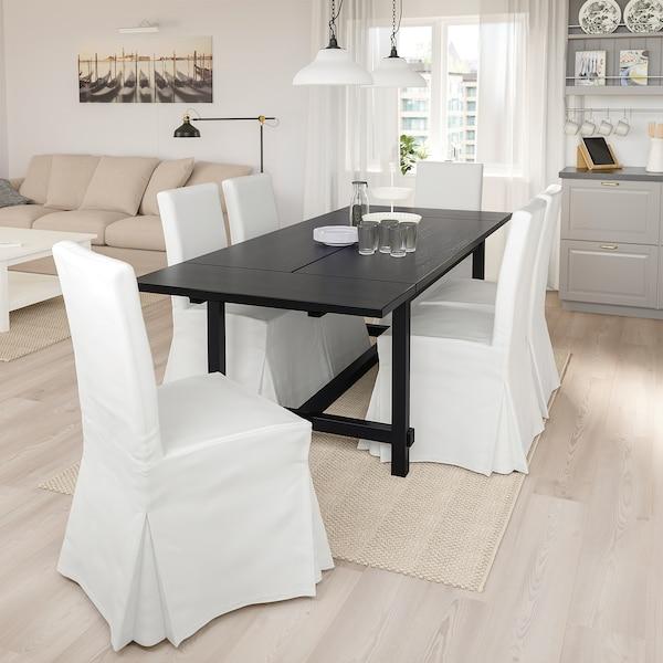 NORDVIKEN / HENRIKSDAL table et 4 chaises noir/Blekinge blanc 152 cm 223 cm 95 cm