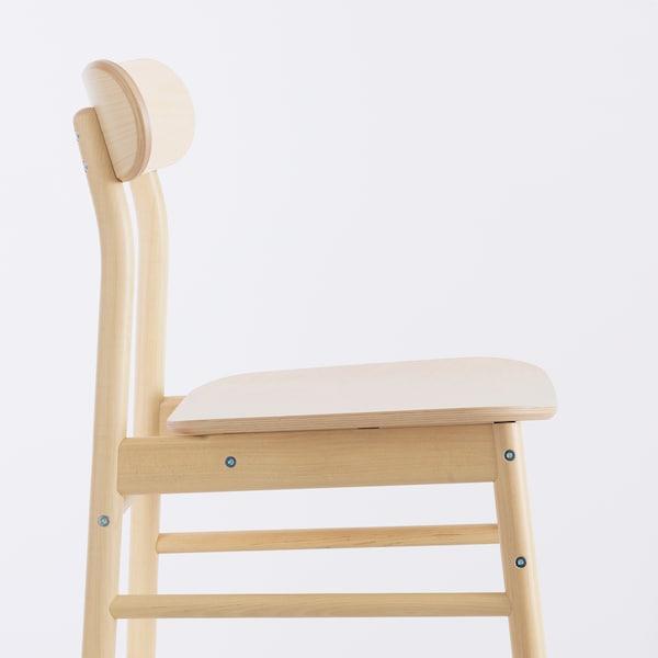 NORDVIKEN / RÖNNINGE Table et 4 chaises, blanc/bouleau, 152/223x95 cm