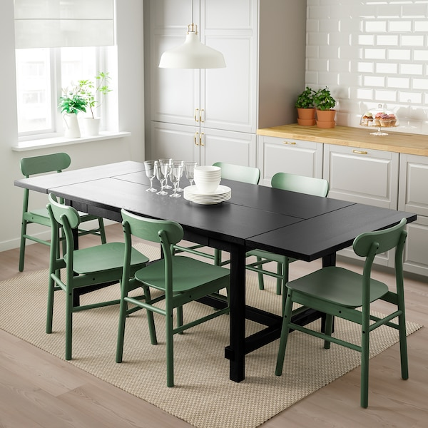 Nordviken Ronninge Table Et 4 Chaises Noir Vert Ikea