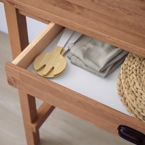 NORDVIKEN Table de bar, vernis effet anc, 140x80x105 cm